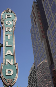Historic downtown Portland Oregon Sign